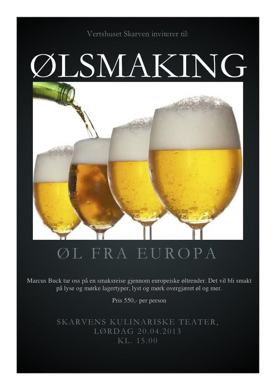 Øl-plakat
